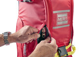 O2 Response bag PRO extended Height infectie preventie Rood_